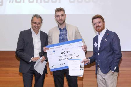"""2018 gewann die """"Hochschule Aalen App"""" in der Kategorie Gründer-Oscar / Bildnachweis: © Hochschule Aalen / Peter Schlipf"""