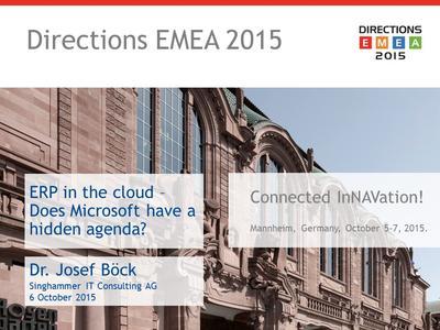 Nicht für jeden lohnt sich ERP in der Cloud gleichermaßen – erörtert Dr. Josef Böck.