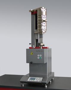 All weights are securely installed in the modular Mflow extrusion plastometer.