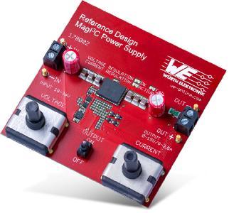 """Mit dem Board """"MagI³C Power Supply"""" demonstriert Würth Elektronik, wie einfach mit einem MagI³C Power Modul ein Labornetzteil gebaut werden kann / Bildquelle: Würth Elektronik"""