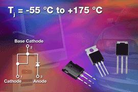 Vishay Releases 5th Generation Family of High-Performance 100-V Schottky Diodes That Offer Tj Max of +175°C For High-Temperature Applications