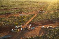 Bohrgeräte im Einsatz auf Hemi; Foto; De Grey Mining