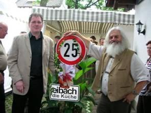 25 Jahre Rainer Müller (links) und Wolfgang Eibach