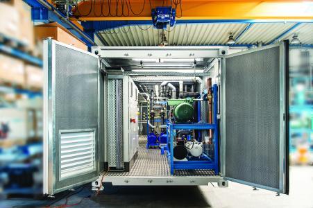 Reisner-Containeranlage in der Fertigung.