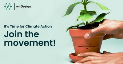 "Earth Day April 2021: wirDesign beteiligt sich an der Klima-Kampagne ""Time for climate action"""