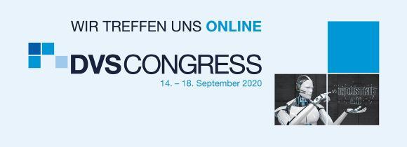 Das Logo des DVS CONGRESS 2020 im Onlineformat / Quelle: Alexander Limbach/stock.adobe.com/DVS