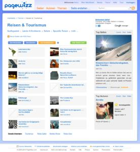 PageWizz-Themenseite Reisen und Tourismus