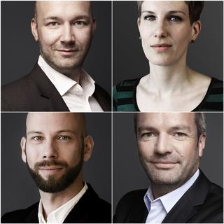 Foto von links oben im Uhrzeigersinn: Werner Spicka, Julia Löffler, Andreas Rieger, Jens Mühlstedt.