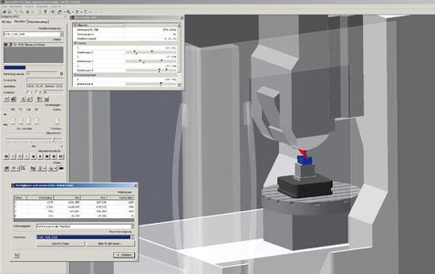 Die Überwachung steht sowohl in der Maschinensimulation als auch in der Maschinen- und Abtragssimulation zur Verfügung