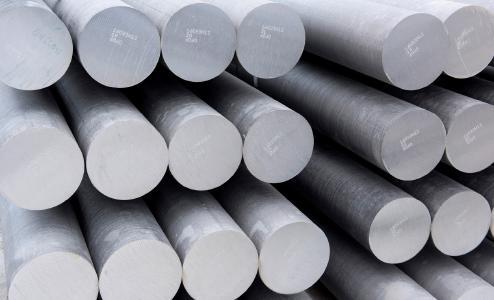 Aluminium-Strangpressbarren.