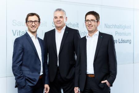 Von links nach rechts: Michael Mayer, Klaus-Peter Karnstedt und Lars Urban sind die Geschäftsführer der Meiko Deutschland GmbH