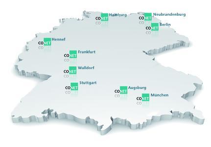 Die Standorte der CONET Group