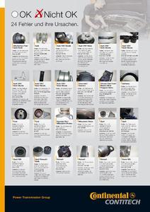 Ein neues Poster der ContiTech Power Transmission Group zeigt anschaulich die häufigsten Probleme und ihre Ursachen im Umgang mit Zahnriemen und Spannrollen / Photo: ContiTech