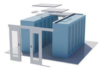 Hier eine Übersicht der Module, aus der eine Daxten Solid Cold Aisle Containment-Lösung besteht.