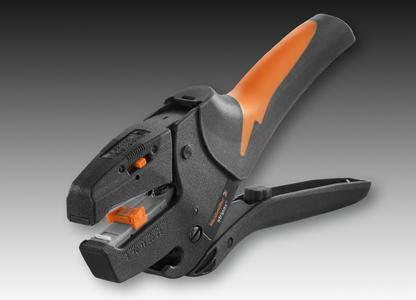 Weidmüller stripax®  –  das Original: Ein Abisolierwerkzeug, das bei der präzisen und rationellen Leiterverarbeitung erneut Maßstäbe setzt