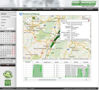 Screenshot aus der Kartenansicht im LOSTnFOUND-Portal. Bild: LOSTnFOUND