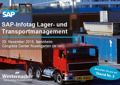 Westernacher auf dem SAP Infotag für Lager- und Transportmanagement