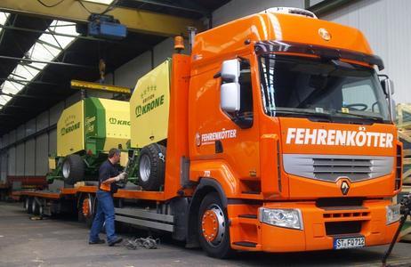 Zu den transportierten Gütern im Testzeitraum gehörten unter anderem landwirtschaftliche Maschinen
