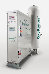 Die OxyReduct® P-Line ist besonders kompakt gebaut und modular in ihrer Leistung. Damit lässt sich das System veränderten Umgebungsbedingungen problemlos anpassen.  Sie ist geeignet für den Einsatz in Archiven, Bibliotheken, automatisierten Logistikzentren und IT-Bereichen