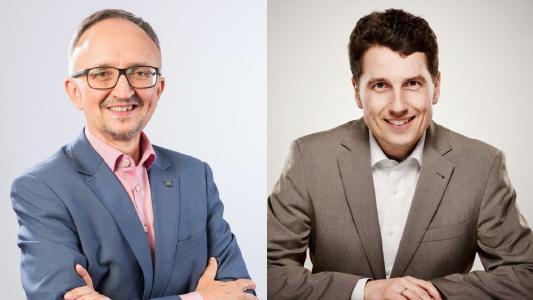 Stefan Rauner, Governikus, (li.) und Thilo Schuster, cit, sind von den Vorteilen der Governikus-Integration in cit intelliForm überzeugt.