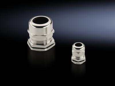 Cable gland, brass / Photo: Rittal GmbH & Co. KG