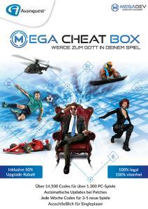 Einfach bei PC-Spielen in den Gott-Modus schalten mit der MegaCheatBox