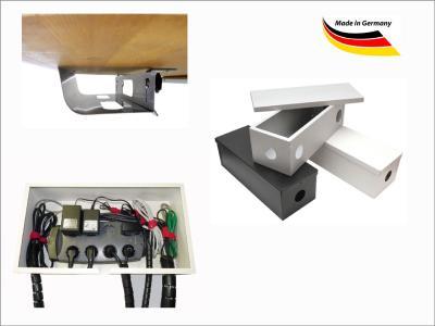 kabelboxen und kabelwannen von schaffen ordnung im b ro und zu hause h w. Black Bedroom Furniture Sets. Home Design Ideas
