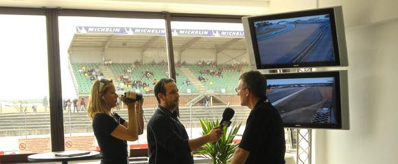Ruckus Wireless beim 24-Stunden-Rennen von Le Mans (Pressebereich)