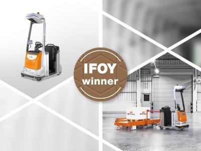 """In der Kategorie """"AGV & Intralogistics Robot"""" beim diesjährigen International Intralogistics and Forklift Truck of the Year (IFOY) Award setzte sich der automatisierte LiftRunner mit LTX 50 und automatischer Be- und Entladung durch (Foto: STILL GmbH)"""