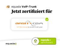 equada SIP Trunk von ansit-com zertifiziert. Kompatibilität mit ansitel VoIP-Telefonanlagen