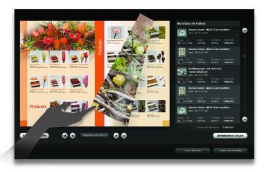 ekm touch - Bestellung am Touchscreen