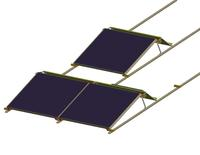 Flat roof mounting system improved: Delta Wing Mono²