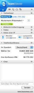 TeamViewer 7 Mac Meeting-Widget