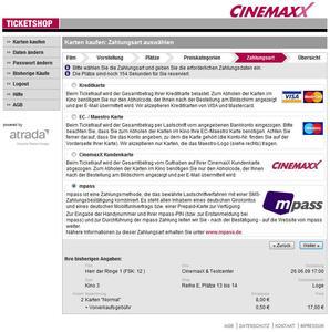 Screenshot Ticketshop mpass