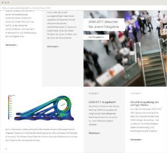 Volume Graphics Website Desktop Ansicht News