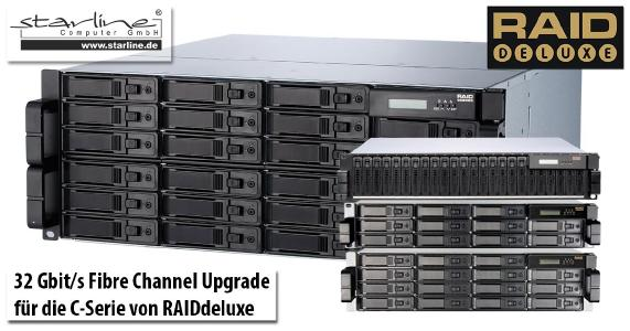 C-Serie von RAIDdeluxe fibert ab sofort mit 32 Gbit/s