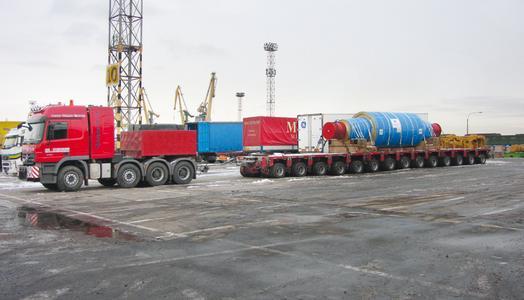 Der Transport eines so großen Bauteils nach Russland stellt eine große Herausforderung dar