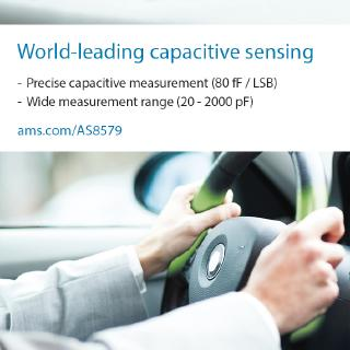 New AS8579 automotive-qualified capacitive sensor from ams