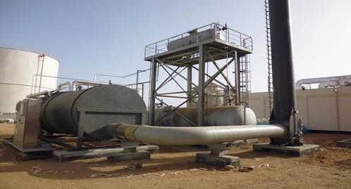Heating plant for a crude oil stock in Saudi Arabia