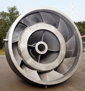 Leitschaufelgehäuse aus GJS 400, Gewicht ca. 7 Tonnen / Foto: HÜTTENES-ALBERTUS