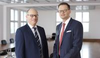 Jenoptik-Vorstand ab 1. Mai 2017: Finanzvorstand Hans-Dieter Schumacher (links), Vorstandsvorsitzender Dr. Stefan Traeger (rechts) / Foto: Jeibmann Photographik