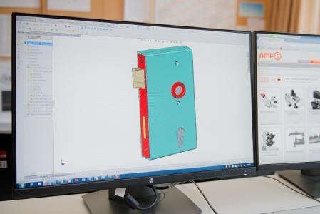AMF stellt noch immer Schlösser her, wie dieses Beispiel eines Torschlosses als 3D-Modell zeigt