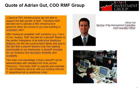 Kommentar von Adrian Gut, COO RMF Group