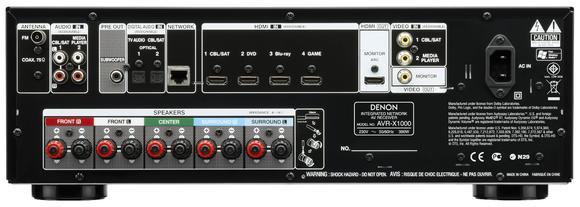 AVR-X1000 Rückansicht