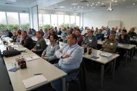 Volles Haus beim 3. ombran Erfahrungsaustausch in Bottrop. Mehr als 60 Betreiber von Entwässerungssystemen, Planer, Bauingenieure und Verarbeiter nahmen an der Fachveranstaltung der MC-Bauchemie teil.