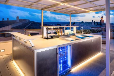 rosskopf partner ag verleiht mit porzellankeramik einer outdoor designk che zur messe area30. Black Bedroom Furniture Sets. Home Design Ideas
