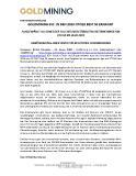 [PDF] Pressemitteilung: Goldmining Inc. in den 2020 Otcqx Best 50 Ernannt