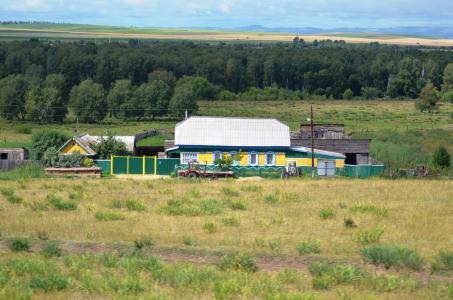 Agrarwirtschaft auf Schritt und Tritt: Mitten in den Weiten Sibiriens finden sich allenthalben landwischaftliche Betriebe, die die Bevölkerung mit Grundnahrungsmitteln aus der Region versorgen. Der Geschmack frischer sibirischer Fleischtomaten oder eingelegter Fassgurken ist einzigartig! (Foto: Achim Zielke)
