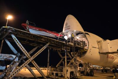 Emirates SkyCargo takes Emirates Team New Zealand's boat to the skies