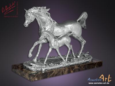 Asmetec-Art: Angeles Anglada 417P - Silberne Pferde